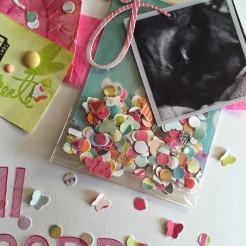 Lay out, clean and simple, abecedario amy tarangine, scrapbooking, scrap, confetti