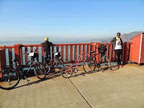 Rest stop half way across the Golden Gate