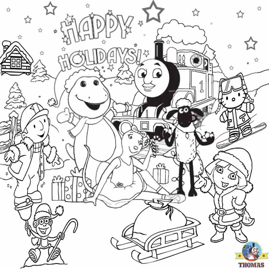 Free Kids Christmas Coloring Pages to Print The Kidz Page - christmas coloring pages to print out