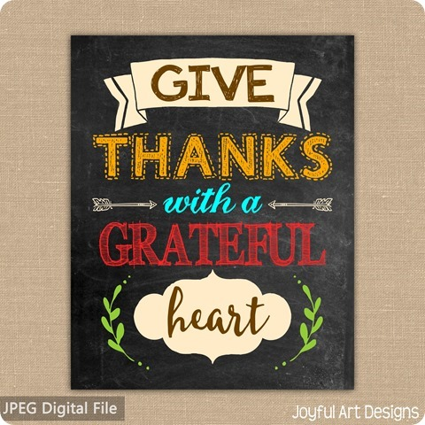 ETSY Listing Give Thanks