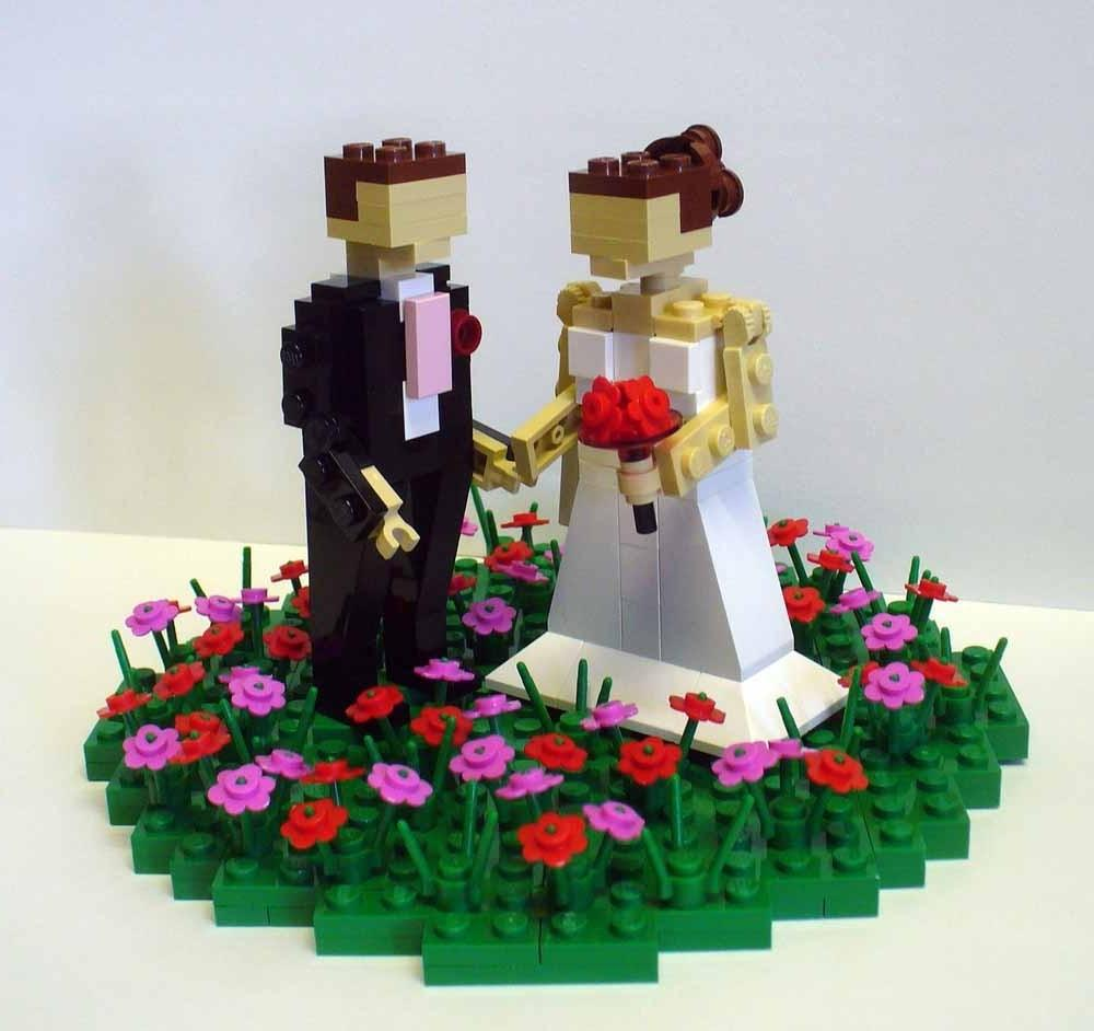Custom LEGO Wedding Cake