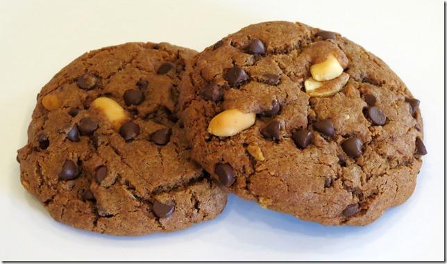 Chocolate PB2 Granola Chocolate Chip Cookies