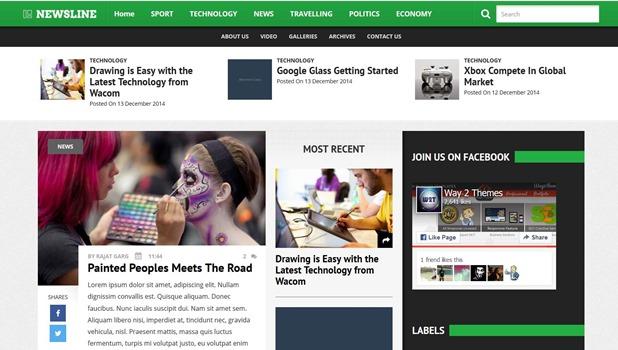 newsline-template