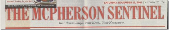 McPherson Sentinel 11_12_2001