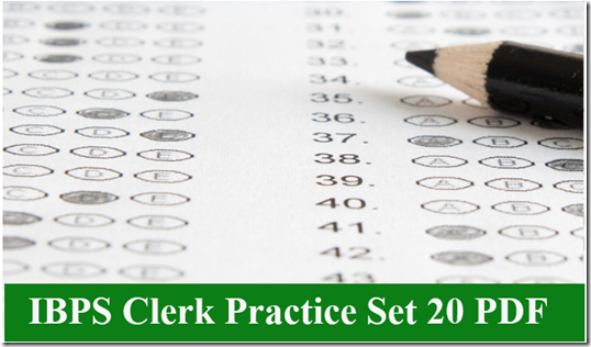 IBPS Clerk Preliminary Question paper PDF Set 20
