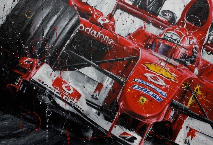Михаэль Шумахер Ferrari F2004 - рисунок Art Rotondo