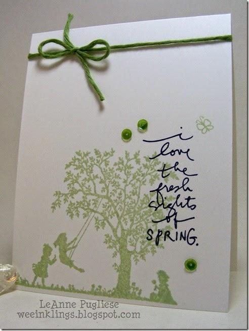LeAnne Pugliese WeeInklings Spring Silhouettes