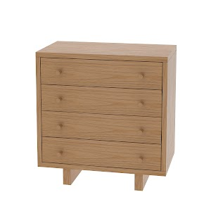 Parsons Nightstand with Drawers