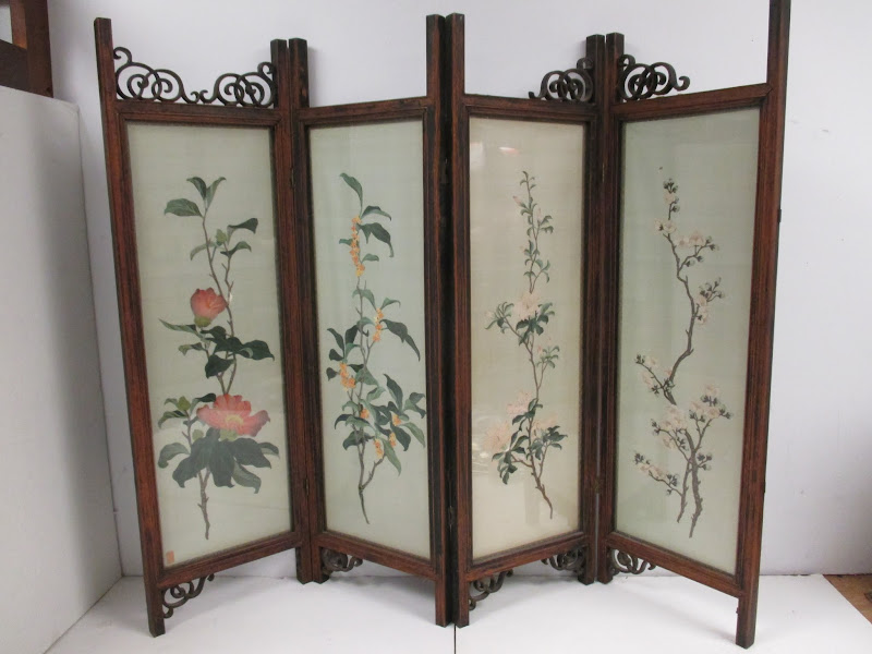 Vintage Asian Table Top Screen