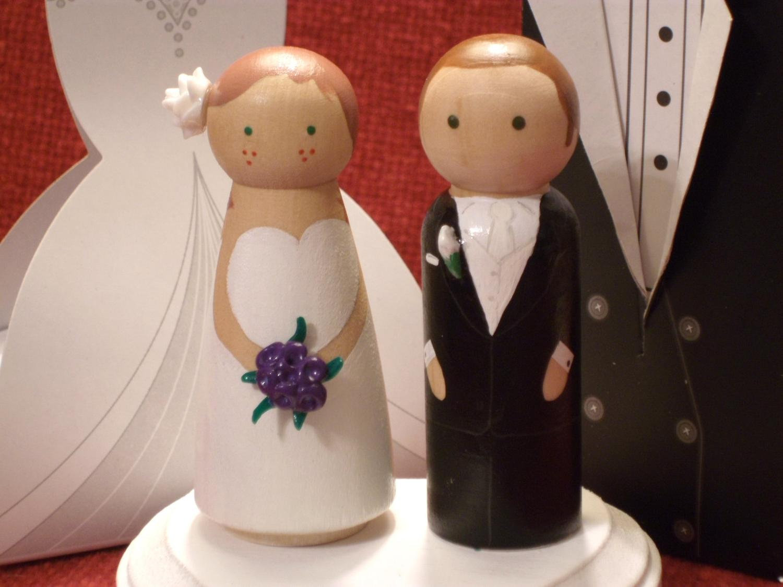 wood wedding cakes