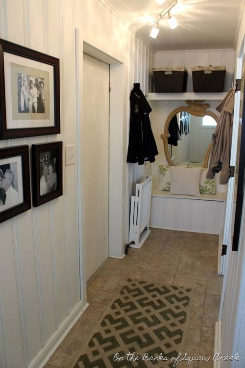 board and batten mudroom