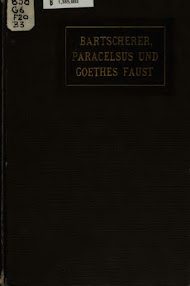 Cover of Agnes Bartscherer's Book Paracelsus, Paracelsisten und Goethes Faust (in German)