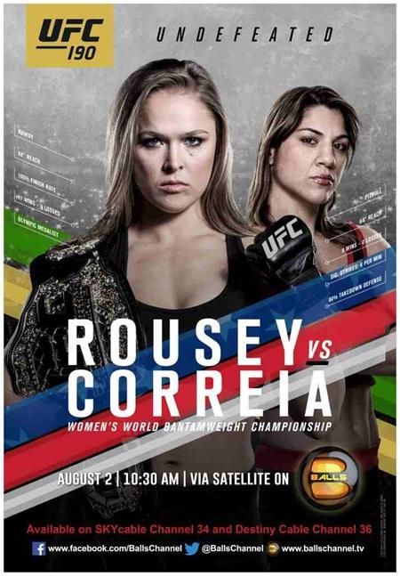 UFC 190 - Rousey, Correia
