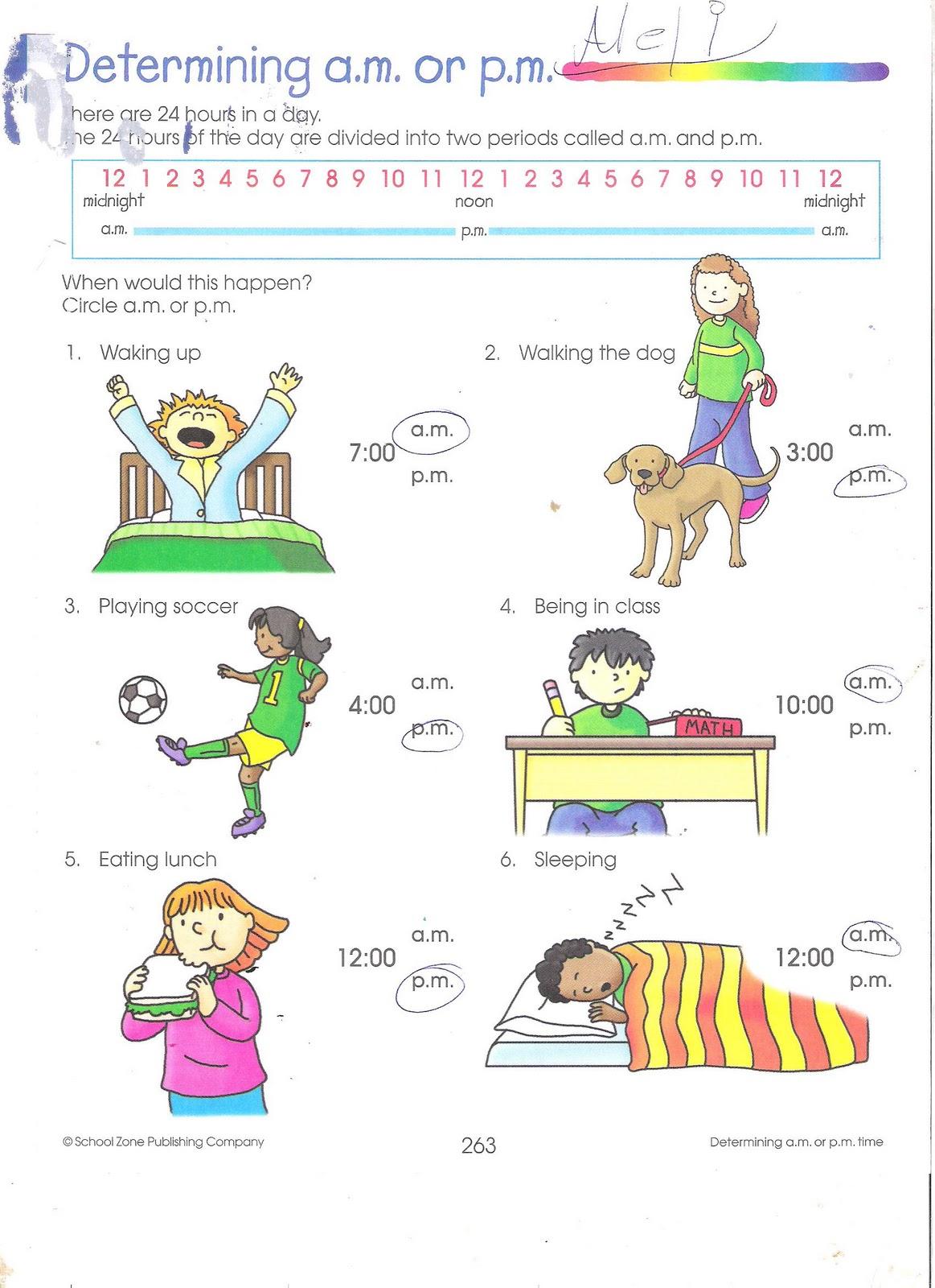 Am And Pm Worksheets - humorholics