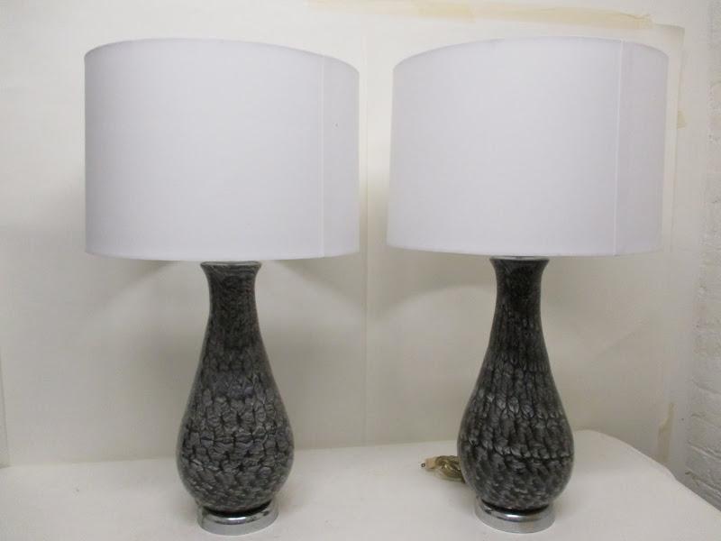 Glass Lamp Pair