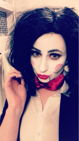 Sammi Jackson - Halloween Saw Jigsaw Make Up + Costume