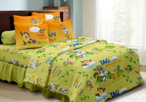 Ideal The fitted sheet set that es with a fitted sheet pillow case and bolster case Available in Single u Super Single costs and the Summer Blanket