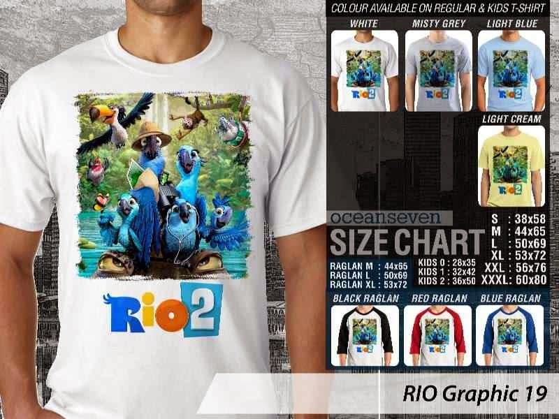 Kaos Film Animasi Lucu Desain RIO Graphic 19 distro ocean seven