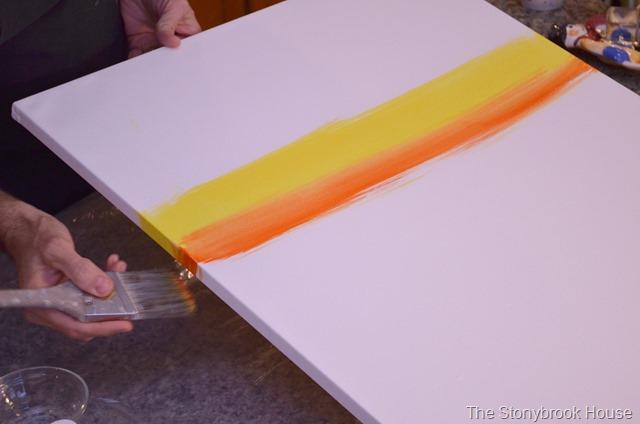 Paint the edges