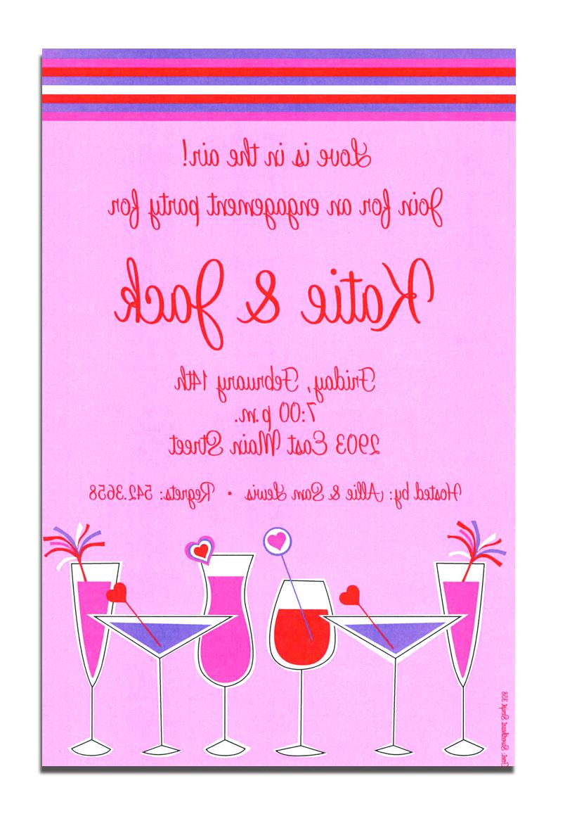 A funky or chic invitation