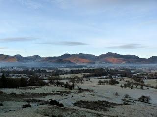 Western Fells from Cumbria Way near Latrigg