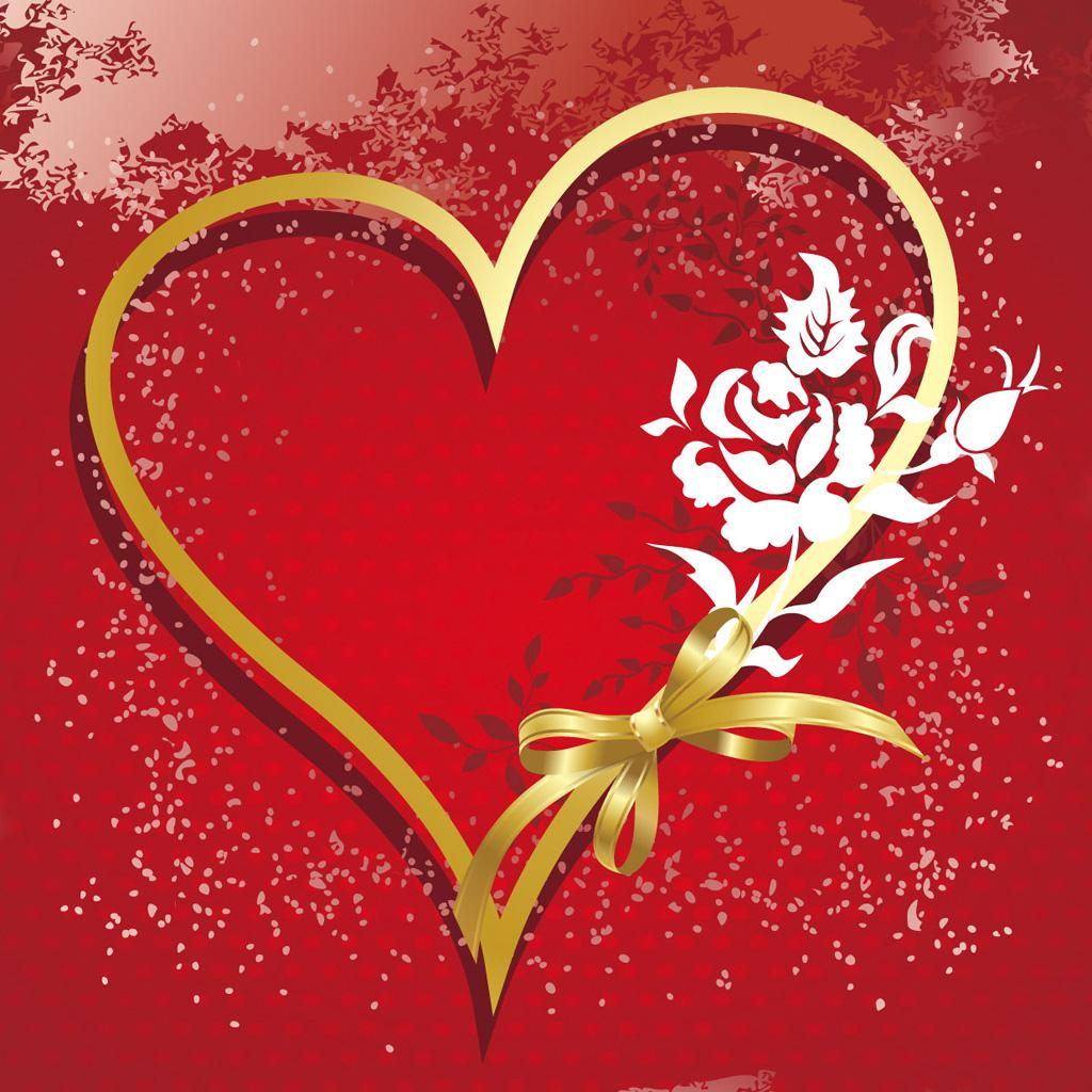 heart wedding vector