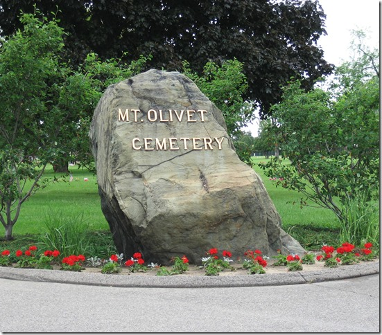 Mt Olivet Cemetery_rock sign