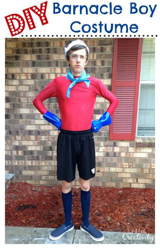 Barnacle boy costume cover