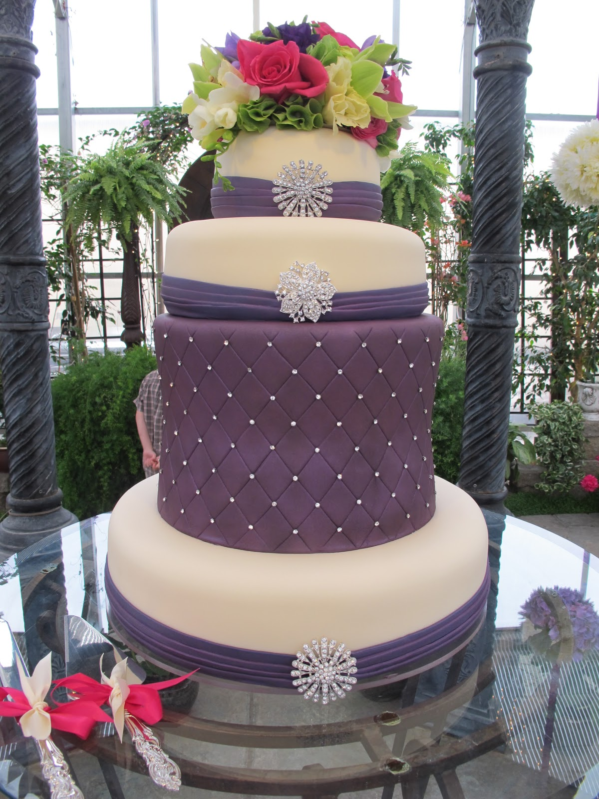 purple castle wedding cakes