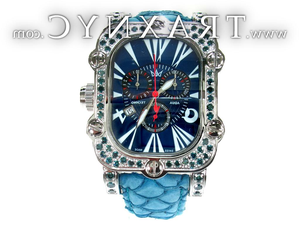Steel Blue Diamond Watch