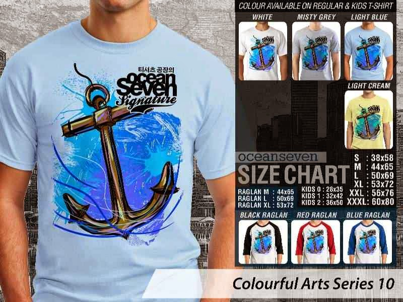 KAOS keren Colourful Arts Series 10 anchor jangkar | KAOS Colourful Arts Series 10 distro ocean seven