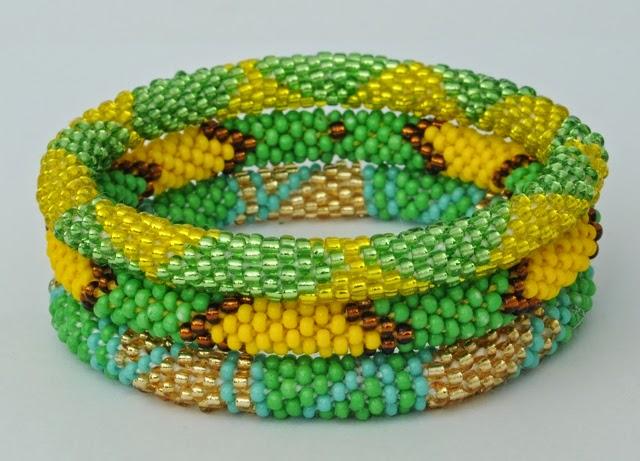 Bracelets Assorted Green