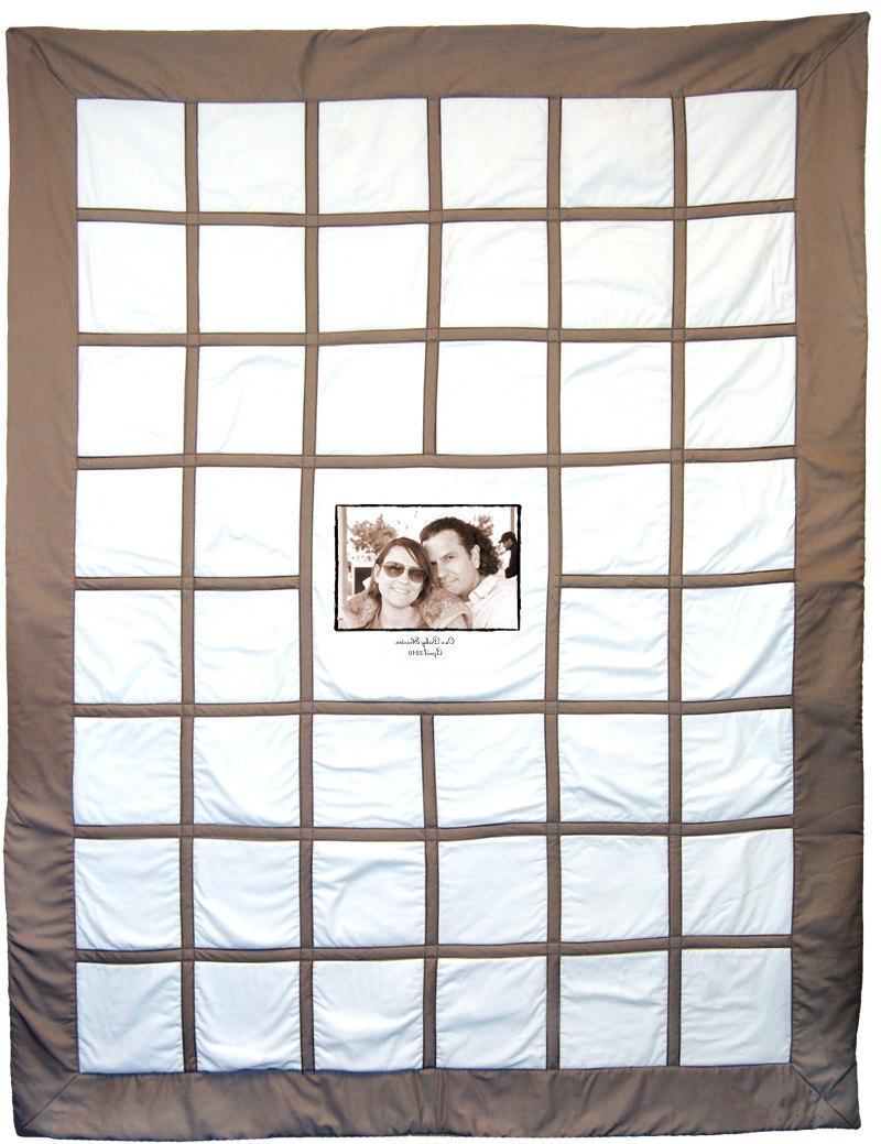 The Original Wedding Guest Book Signature Photo Quilt - 1 Photo