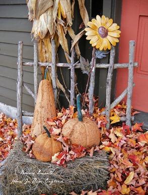 fall haystack fencing