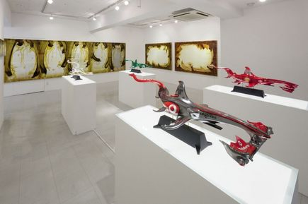 выставка болидов-рыб акул Showichi Kaneda