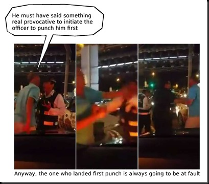 LTA officer fight with Uber driver