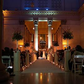 In love by Debra Melton - Wedding Ceremony ( love, weddings, wedding, union station, ceremony )