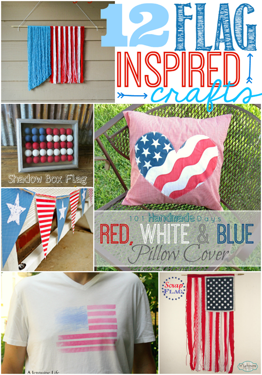 12 Flag Inspired Crafts @ GingerSnapCrafts.com #LinkParty   #Features #flags
