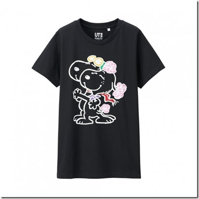 UNIQLO UT X Peanuts Movie Women Short Sleeve Graphic T-Shirt 17