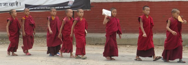 Monks Bodh Gaya