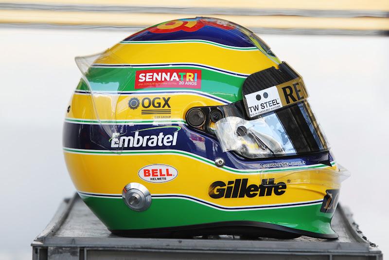шлем Бруно Сенны для Гран-при Кореи 2011 - вид справа
