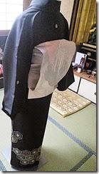 紐のみで着物を着付けるテスト (4)