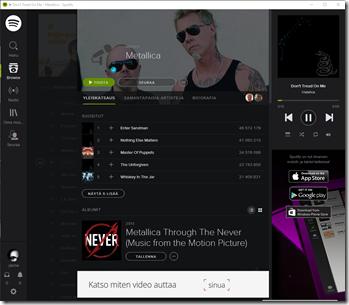 Erinomainen ratkaisu Spotifylta