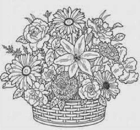 Free Coloring Book Pages for Adults Fanciful Florals Craftsy - free coloring book pages for adults