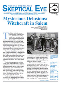 Cover of Walter Rowe's Book Mysterious Delusions Witchcraft in Salem