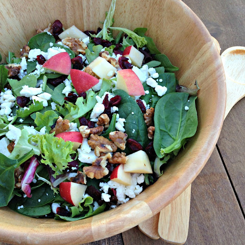 Apple Walnut Salad with Homemade Balsamic Vinaigrette