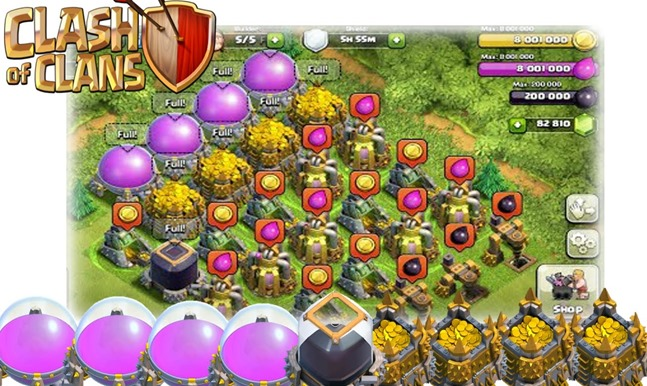 millions of gold and elixir
