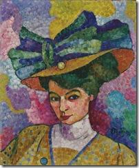 Jean_Metzinger,_c.1906,_Femme_au_Chapeau_(Woman_with_a_Hat),_oil_on_canvas,_44.8_x_36.8_cm,_Korban_Art_Foundation.
