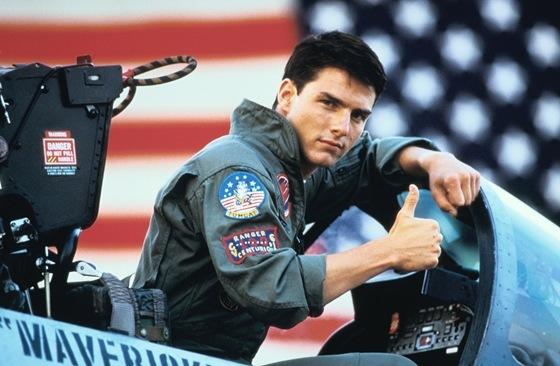 Tom Cruise is Maverick in Top Gun