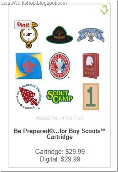 Cricut Scout Cartridge - coupon codes at Lisa's Workshop